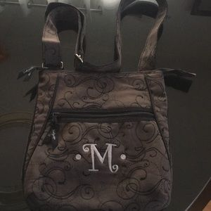 Thirty-One Black Crossbody bag with 'M' stitched
